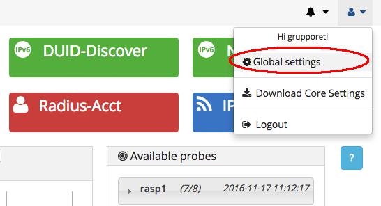 global settings